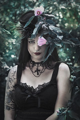 Dark fairytale II (martina.spoljaric1989) Tags: people woman girl fashion forest dark gothic goth fairy expressive conceptual