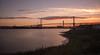 Lonely Stick (Graeme Andrews) Tags: bridge sunset river landscape pentax riverthames atmospheric dartfordcrossing nd110 tenstopfilter qebridge pentaxkr bwnd30x1000