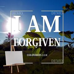 """""""Ik ben vergeven"""" Canvasdoek (Zalving.nl - De Zalfolie Webwinkel) Tags: poster god jesus canvas identity yeshua proclamation doek christelijk christelijke"""