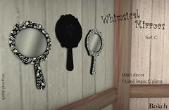 Some Whimsy (Set C) (Pamela Igalies / Bokeh) Tags: bokeh mirrors sl event secondlife virtual decor exclusive originalmesh festivalofsin bokehstore whimsicalmirrors