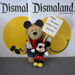 Protest (Sa//y) Tags: bear art mouse amusement teddy banner protest banksy mickey anarchy tropicana placard westonsupermare wsm dismaland
