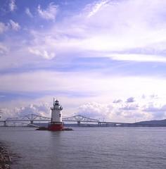 (Matt Allouf) Tags: new york lighthouse tlr film fuji state slide velvia valley hudsonriver medium format hudson 50 tarrytown rolleicord