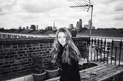 Grace (Thomas Hole) Tags: blackandwhite london art film rooftop girl analog 35mm photography model flash ishootfilm east explore stunning e1 yashica t4 oldschoolflickr thomashole mandpmodels almost2mviews