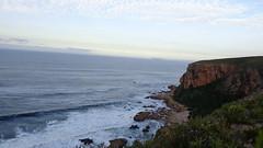 Lookout Point - Otter Trail (Rckr88) Tags: ocean travel sea sky cliff mountains water clouds southafrica coast waves wave coastal coastline gardenroute tsitsikamma easterncape ottertrail rockycoastline tsitsikammanationalpark