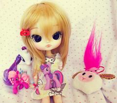 Happy B-day Zero-tan!!! ; A ; (nakapinata) Tags: cute little 21 dal mini cm pony kawaii pullip zelf rarity obitsu dotori zelfs twilightsparkle