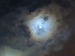 Rising Moon (Khaled M. K. HEGAZY) Tags: blue sky cloud moon white black nature alexandria closeup nikon outdoor egypt coolpix    p520