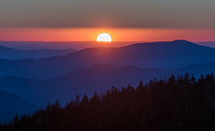 Beautiful Sunset (shalabh_sharma7) Tags: travel usa sun mountains beautiful landscape nationalpark nc bravo purple northcarolina tamron smokies clingmansdome naturesfinest thegreatsmokymountainsnationalpark sonya77ii