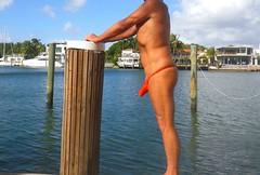 red bulge thong indcrk (bmicro2000) Tags: microkini minimalswimwear microbeachwear thong rocket bulge man male tiny thongman missile torpedo