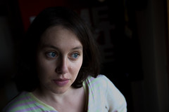 Low portrait (lapenna9_9) Tags: blue portrait woman girl eyes nikon key low d750 expressive