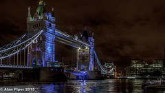 Tower Bridge at night (PapaPiper) Tags: england london night towerbridge river nightscape unitedkingdom bridges riverthames 2015 greatphotographers diamondclassphotographer