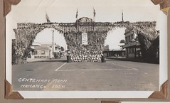 Centenary celebrations in Nanango, Queensland - 1950 (Aussie~mobs) Tags: nanango queensland australia 1950 vintage centenarycelebrations march parade crowds excitement fun arch cru årgang jahrgang vendimia aussiemobs