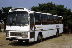 B6897D SR 3050 HBP331X-YDF329K Bournemouth 9 Aug 83 (Dave58282) Tags: bus 3050 hantsdorset shamrockrambler hbp331x ydf329k