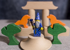 The Good Wizard (Busted.Knuckles) Tags: blue home fun lego good wizard lightroom minifigures pentaxks2