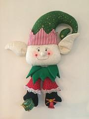 Enfeites de Natal (Pina & Ju) Tags: natal handmade artesanato feltro patchwork papainoel decoração duende tecido enfeite elfo