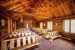 Inside the Chapel of the Transfiguration (ExceptEuropa) Tags: park travel usa building church architecture canon photography nationalpark photographer unitedstates nps religion chapel roadtrip moose christianity wyoming traveler grandtetonnationalpark chapelofthetransfiguration canon6d