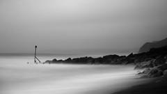 Westbay Groyne Marker - Flickr (Paul Hayman) Tags: longexposure sea sky bw seascape monochrome landscape pier december waves cliffs dorset marker groyne bridport westbay 2015