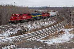 Last of 2015 (Ryan J Gaynor) Tags: railroad train hamilton railway trains canadianpacific cp railfan dme railroading emd dakotaminnesotaeastern emdsd60