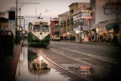 Rain or Shine (Manzurur Rahman Khan) Tags: sanfrancisco california reflection us unitedstates muni streetcar fishermenswharf project365