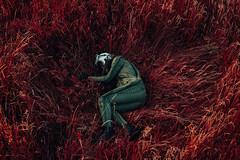 bigger than us (David Schermann) Tags: conceptual concept conceptphotography photography astronaut cosmonaut grass red mars space spacsuit spacesuit emotional emotions
