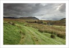 RED ON GREEN (SwaloPhoto) Tags: autumn fields scottish highlands perthshire scotland track trees ruin fujixt1 beinn dearg glen artney fujinonxf18135mm f3556rlmoiswr formatt hitech filter system lonely wild grahams mountains