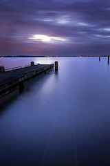 Night will come (miguel_lorente) Tags: holland longexposure water marken netherlands sunset seascape pier