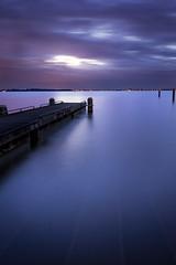 Night will come (miguel_lorente) Tags: holland longexposure water marken netherlands sunset seascape pier