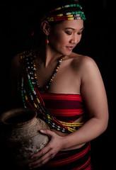 The Goddess side of a Warrior (www.charleswandag.com) Tags: kalinga goddess mountaingirl policewoman warrior womanpower beauty gorgeous ethnic philippines asianculture igorot cordilleran kibungan kapangan benguet car face nikon dslr