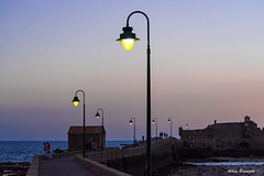 Evening mood ... (acbrennecke) Tags: achimbrennecke castillodesansebastian sunset laternen light sea castle cadiz nikon5500 night nikon