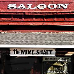 gold rush watering hole (msdonnalee) Tags: saloon themineshaft bar pub commercialfacade shadow schatten ombre ombra sombre californiagoldrush goldrushtown brick oldbrick explore