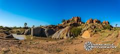 Granite Mine Pano (Isaeagle) Tags: mountisa queensland australia granitemine granite rocks scenic scenery panorama outback outside outdoor outdoors water