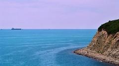 (pelleasus) Tags: sea seaside summer film 35mm blue sky beach russia beautiful beauty sun