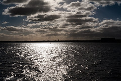 The River Mersey (Adventures with a Camera) Tags: rivermersey liverpool river water landscape clouds intothesun