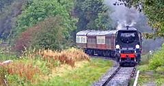 City Of Wells - Head on. (wontolla1 (Septuagenarian)) Tags: elr east lancs railway irwell vale station lancashire bury steam loco engine cityofwells golden arrow smoke olympusmzuikodigitaled40150mmf4056
