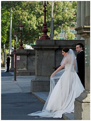 """""""Waiting in line for their wedding shots"""" - Collingwood, Melbourne (TravelsWithDan) Tags: bridegrooms australia candid weddingphotography collingwood melbourne waiting canong16"""