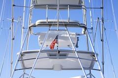 Old Glory (G-daddyArt) Tags: bohicket marina fishing boat bridge sky johnsisland southcarolina