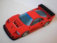Ferrari F40 GTE Paper Car Free Vehicle Paper Model Download (PapercraftSquare) Tags: 132 car f40 ferrari ferrarif40 ferrarif40gte papercar vehiclepapermodel