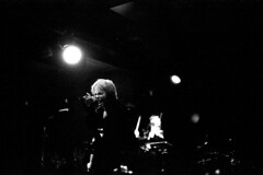 hyde (flaxendream) Tags: 35mm film canona1 canonfd50mm14 ilford3200 pulledfilm analog bw blackandwhite monochrome   hyde vamps leespalace toronto canada concert concertphotography live singer singing stage japanese jrock rock band