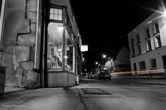 One evening (norm.edwards) Tags: thrapston high street black white slow shutter