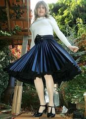 ASOS Arrival (Amber :-)) Tags: black sunray midi skirt tgirl transvestite crossdressing
