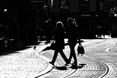 contrasts and  the street (eggii) Tags: wrzburg germany mono bw street contrast blackandwhite dark bright