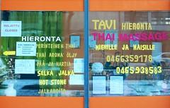 Tavi tai Thai (neppanen) Tags: sampen discounterintelligence helsinki helsinginkilometritehdas suomi finland piv86 reitti86 pivno86 reittino86 tavi thai hieronta massage kaarlenkatu kaarlenkatu3