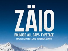 Get Zaio: A free all caps rounded font (vectorarea) Tags: fonts sansserif tshirtfontsfreedownload uppercase