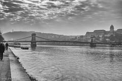 Szchenyi Lnchd / Chain Bridge, Budapest (kitchener.lord) Tags: hungary budapest impressions travel 2016 fujinonxf1855 blackwhite