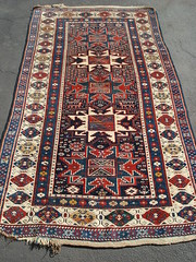 "19TH CENTURY CAUCASIAN LESGHI STAR RUG • <a style=""font-size:0.8em;"" href=""http://www.flickr.com/photos/51721355@N02/30741558485/"" target=""_blank"">View on Flickr</a>"