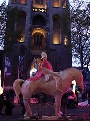 Sint Maarten Parade (indigo_jones) Tags: sintmaarten parade stmartin domplein domtoren lanterns lights speelklok music festival holiday cathedral utrecht nederland netherlands holland birds horses religious