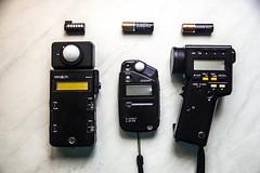 Gear (Tim L Lowe) Tags: gear minoltaflashmeteriii minoltaspotmeterf sekonicflashmeterl308s