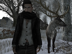 Winter is coming... (SatanicCabbage) Tags: avatars with nose for attitude winter second life sl avatar photography trace snow stag fashion