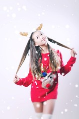 A Grande Xmas (PICS by MARTY) Tags: xmas raindeer ariana grande portrait red