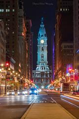City Nights (Stephanie Sinclair) Tags: nikond810 philadelphia cityhall fall2016 lighttrails longexposure seattleempress stephaniesinclairphotography traffic zeiss