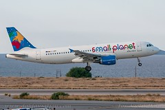 LY-SPF, Small Planet Airlines, Airbus A320-214 - cn 967. (dahlaviation.com) Tags: her lgir heraklion crete greece planespotting spotting dahlaviationcom dahlaviation aviation airplanes aircraft aircrafts airplane airbus